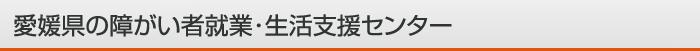 愛媛県の障がい者就業・生活支援センター